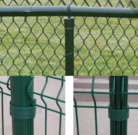 Round Tubular Chain Link Fence Post