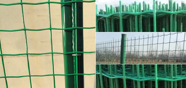 Green PVC Coated Garden Fencing Posts