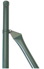 Green Enamel Coated Iron Post